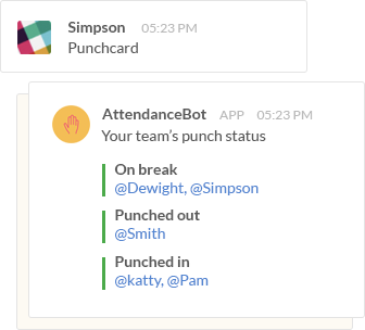 punch status announcement